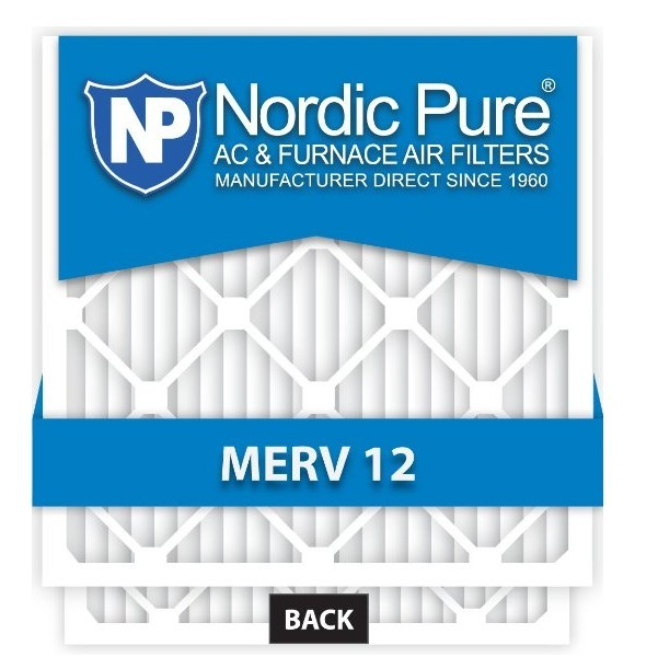 Nordic Pure 20x25x1 AC Furnace Air Filters MERV 12, Box of 6 for $27.95 free shipping