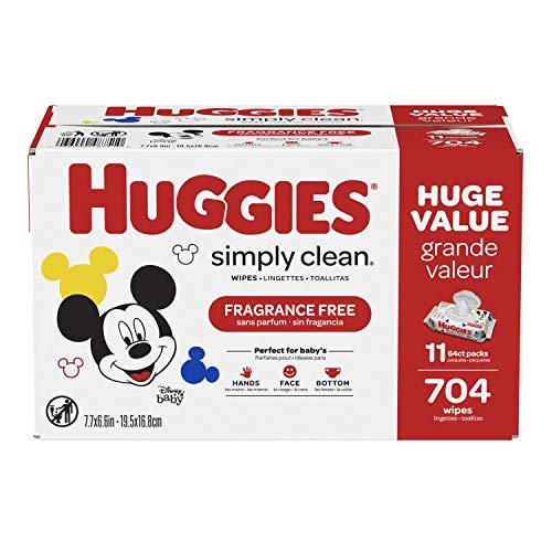 史低价!Huggies Simply Clean 无香型湿巾11袋,共 704 抽