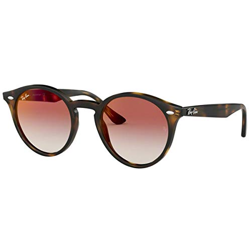 Ray-Ban RB2180 Round Sunglasses, Tortoise/Red Gradient Mirror, 51 mm