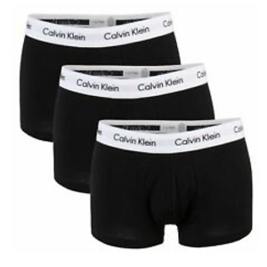 Calvin Klein CK Mens Underwear 3 Pack Cotton Stretch Boxer Brief Trunk Black NEW