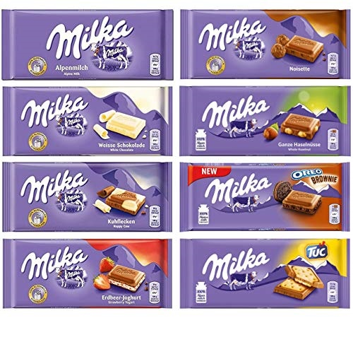 Milka 德国条装巧克力,100克/条,共8条