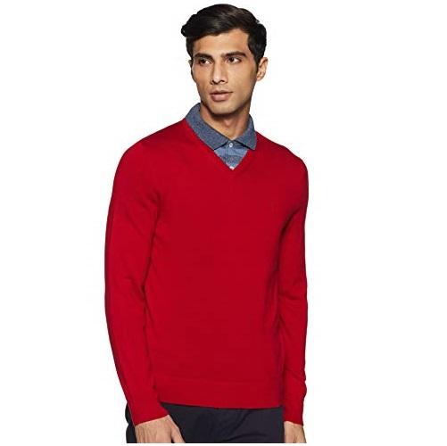 Calvin Klein 卡尔文克莱因 CK 100%纯美利奴羊毛 V领 男式羊毛衫