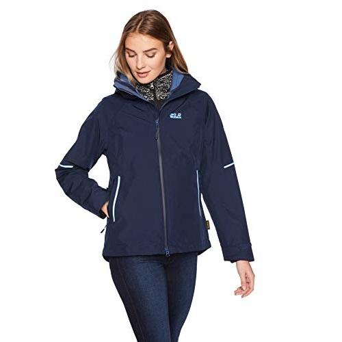 Jack Wolfskin Sierra JKT W Women's Waterproof Short-System-Zip Rain Jacket