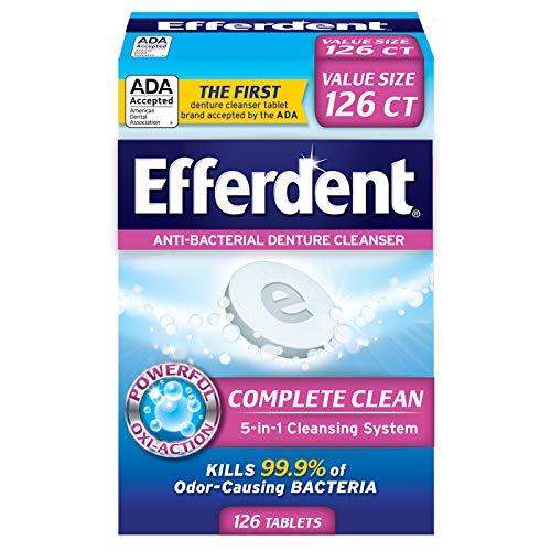 史低价!Efferdent 假牙清洁灭菌泡腾片, 126片