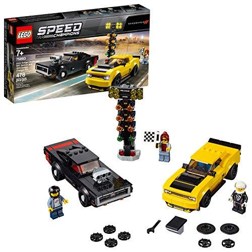 史低价! LEGO乐高 Speed Champions 2018 道奇 挑战者 恶魔 + 1970 道奇 Charger R/T