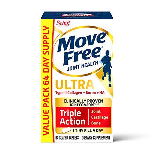 史低价!Schiff Move Free 维骨力 骨胶原维骨力白瓶氨糖软骨素,64粒