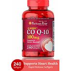 Puritans Pride CoQ10 100 mg 辅酶软胶囊 240粒