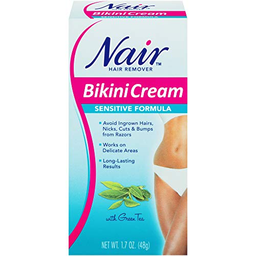 Sensitive Formula Bikini Cream with Green Tea Hair Remover by Nair, 1.7 Ounce $1.99
