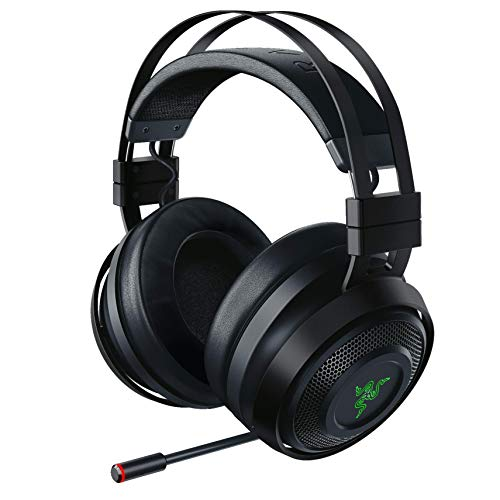 Razer Nari Ultimate Wireless 7.1 Surround Sound Gaming Headset: THX Audio & Haptic Feedback - Auto-Adjust Headband - Chroma RGB - Retractable Mic - For PC, PS4 - Classic Black