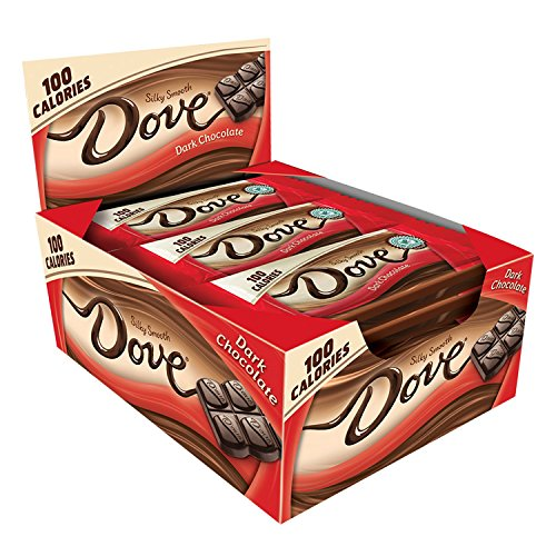 DOVE 100 Calories Dark Chocolate Candy Bar 0.65-Ounce Bar 18-Count Box, Only 7.92