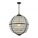 Skorpius Chandelier in Oil Rubbed Bronze - Clear