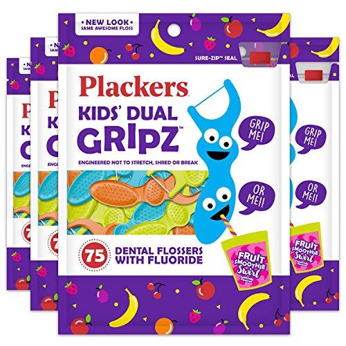 史低价!Plackers 儿童牙线,75个/包,共4包,现j