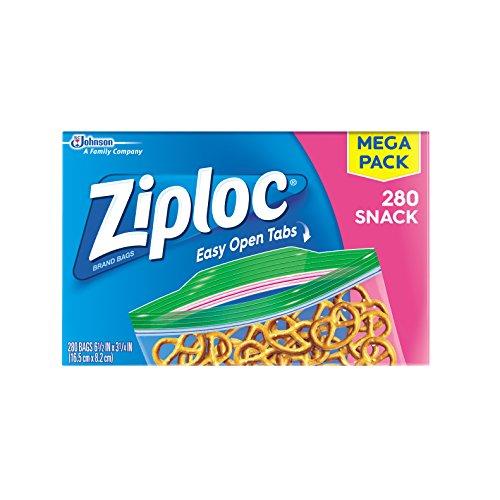 史低价!Ziploc 零食袋,280个装