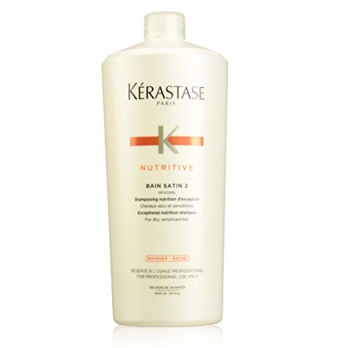Kerastase Nutritive Bain Satin 2 Nutrition Shampoo For Dry and Sensitized Hair, 34 Oz