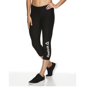 Reebok Women's Quick Capri Branded Leggings