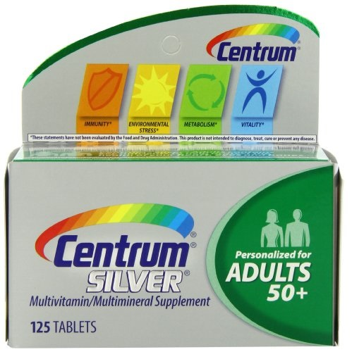 Centrum Silver Adult (125 Count) Multivitamin/Multimineral Supplement Tablet, Vitamin D3, Age 50+ $8.50, free shipping after using SS