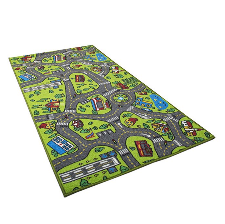Kids Carpet Playmat Rug City Life Great For Playing With Cars and Toys - Play, Learn and Have Fun Safely - Kids Baby, Children Educational Road Traffic Play Mat,$14.44