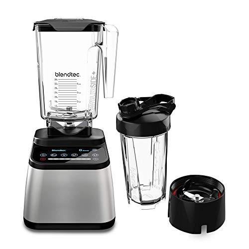 Blendtec D725C3216A1A-A1AP1D8 Designer 725 counter top blender, 90 oz and 34 oz, Stainless Black + Go Jar