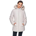 Plus Size d.e.t.a.i.l.s Polyfill Coat w/ Detachable Faux Fur Hood