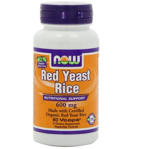 NOW Foods Supplements, Red Yeast Rice 600 mg, Made with Organic Red Yeast Rice, 60 Veg Capsules