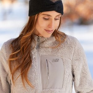 Proozy: New Balance Women's Full Zip Sherpa Fleece Jacket