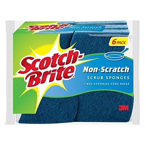 Scotch-Brite防刮伤清洁海绵,6块