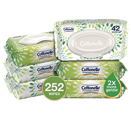 Cottonelle GentlePlus 芦荟+维生素E 可冲洗湿巾,共252片