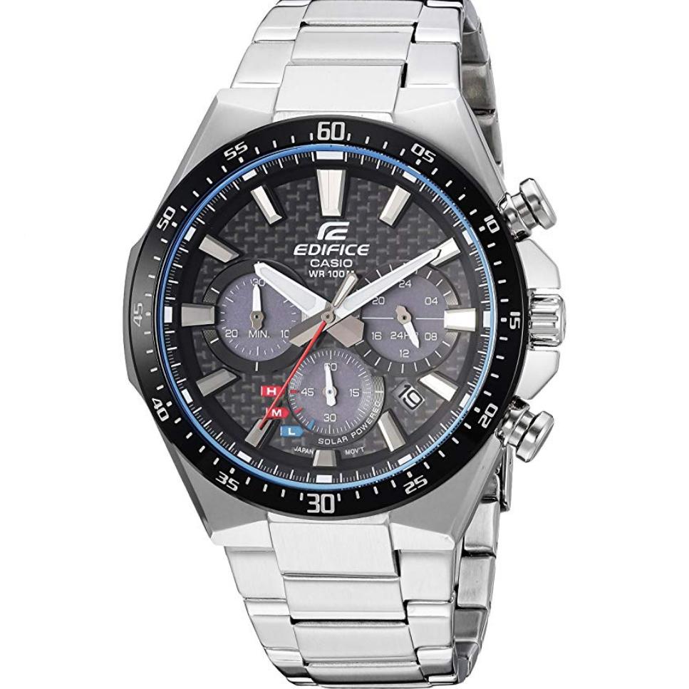 Casio Men's Edifice Quartz Watch with Stainless-Steel Strap, Silver, 20 (Model: EQS-800CDB-1AVCF) $67.84, free shipping