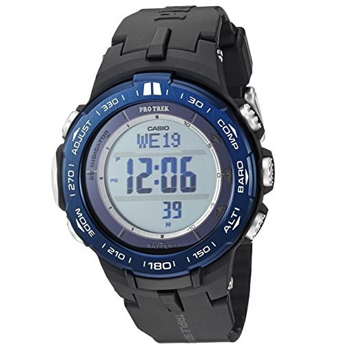 Casio Men's Pro Trek Stainless Steel Quartz Watch with Resin Strap, Black, 23 (Model: PRW-3100YB-1CR)