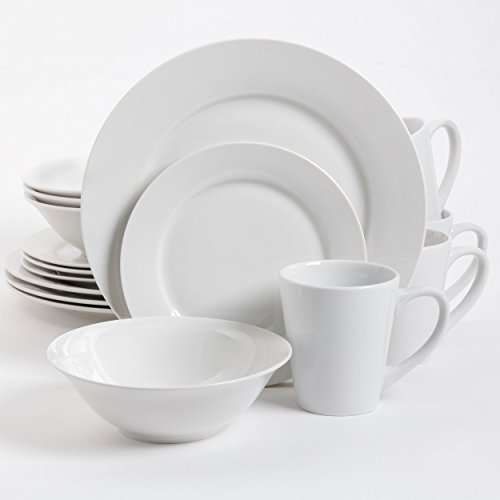 Gibson Overseas, Inc. 102563.16RM Gibson Home Noble Court 16 Piece Dinnerware Set, White, $14.10