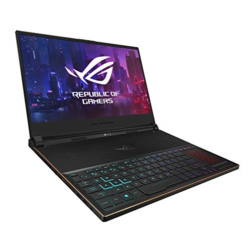 "ASUS ROG Zephyrus S Ultra Slim Gaming Laptop, 15.6"" 144Hz IPS-Type Full HD, GeForce RTX 2080, Intel Core i7-8750H CPU, 16GB DDR4, 512GB PCIe Nvme SSD, Windows 10 Pro - GX531GX-XS74"