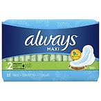 Always Maxi 超吸收无香护翼卫生巾,32片/包,共6包