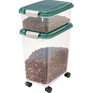 IRIS Airtight 带滚轮 狗粮猫粮储存盒 套装