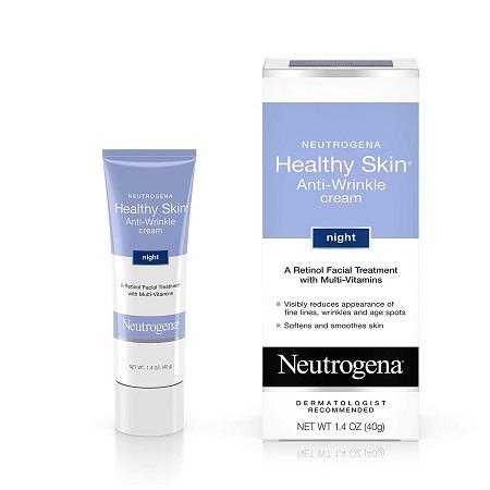 史低价!Neutrogena 露得清 Healthy Skin抗皱晚霜,1.4oz
