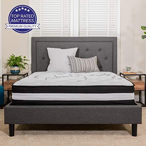 大降!Flash Furniture 12 Inch 超舒适弹簧床垫 中等硬度 $199.73 免运费