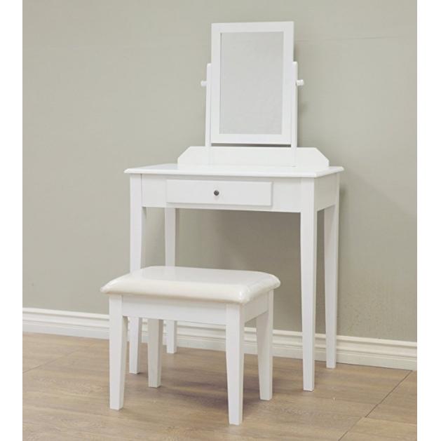 Frenchi Home Furnishing 白色实木组合化妆台 3件套