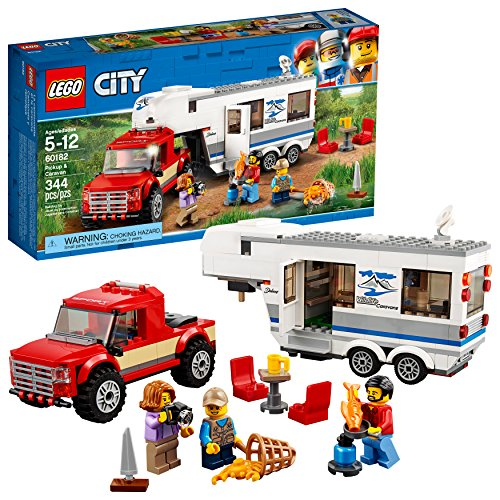 LEGO City Great Vehicles Pickup & Caravan 60182 Building Kit (344 Piece)