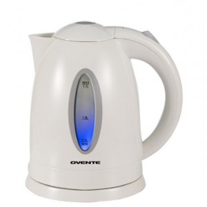 Ovente KP72W Cordless Electric Kettle, 1.7-Liter, White for