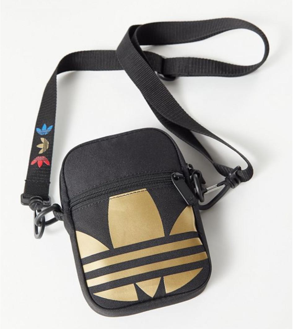 Adidas Originals Metallic Trefoil Festival Crossbody Bag