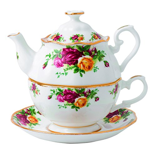 Royal Albert Old Country Roses for One Tea Pot, 16.5 oz, Multicolor