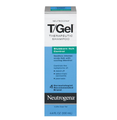 Neutrogena T/Gel Therapeutic Stubborn Itch Shampoo with 2% Coal Tar, Anti-Dandruff Treatment with Cooling Menthol for Relief of Itchy Scalp due to Psoriasis , 4.4 fl. oz