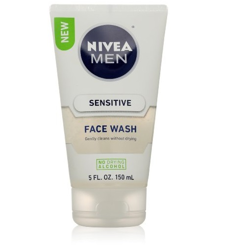 Nivea for Men Sensitive Face Wash for Men, 5 Ounce
