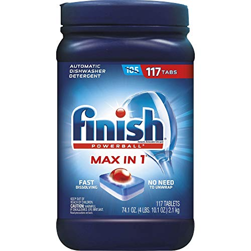 Finish Powerball Max-in-1 Automatic Dishwasher Detergent, 117 ct. Net Wt 74.1 OZ, 74.1 Ounce