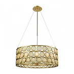 Signet Chandelier - Large in Light Amber Smoke - Gold