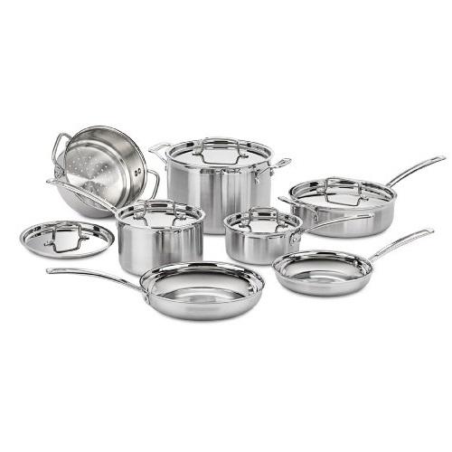 Cuisinart MCP-12 MultiClad Pro 12件套不锈钢厨具