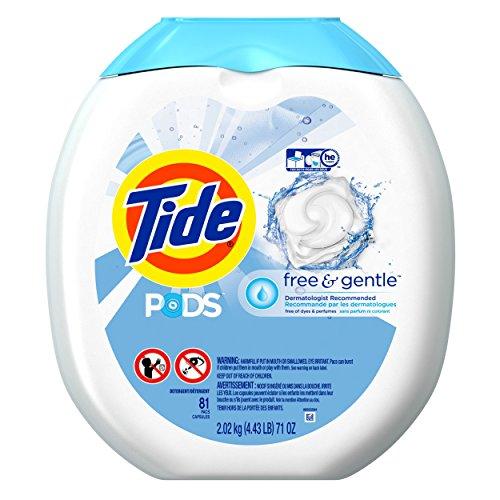 Tide 速溶果冻洗衣球,过敏肌肤可用,81只装