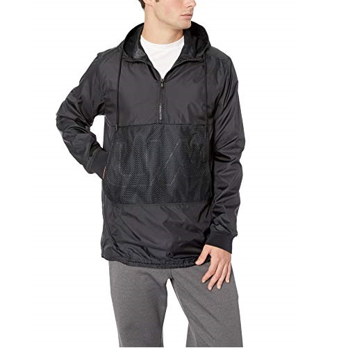Under Armour Men's Unstoppable Longline Anorak, Black (002)/Black, Large