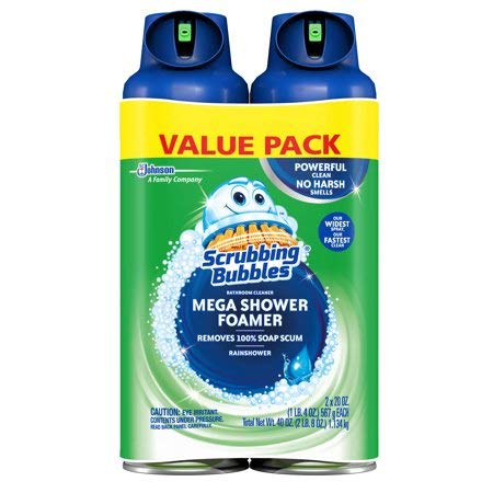 Scrubbing Bubbles Mega Shower Foamer Aerosol, 20 Oz, Pack of 2