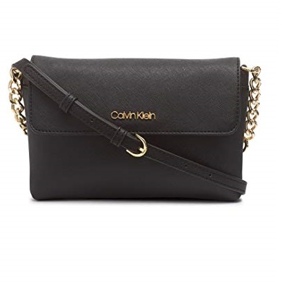 史低价!Calvin Klein Key Items Saffiano女士单肩包
