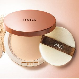 HABA 无添加 花之晨恋蜜粉饼 保湿控油 孕妇敏感肌可用